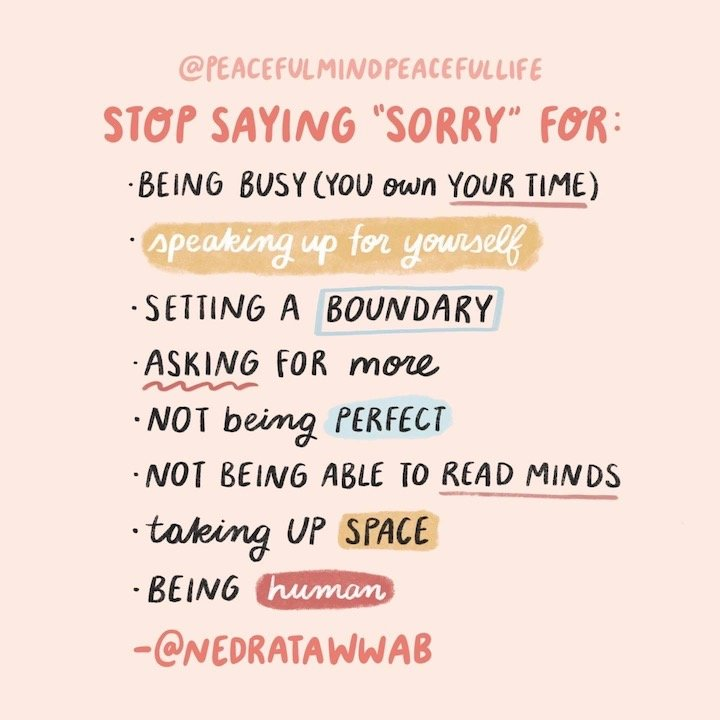 Stop saying sorry