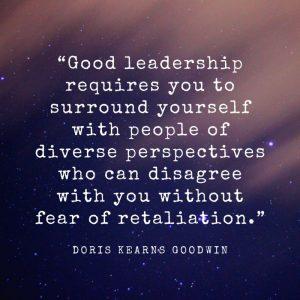 Leadership quote - Doris Kearng Goodwin